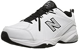 New Balance Men's MX608V4 Training Shoe, White/Black, 10.5 D US