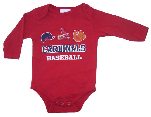 St. Louis Cardinals Unisex Red Creeper Bodysuit Infant Set Size 3 - 6 Months at Amazon.com