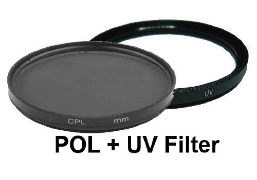 equipster UV + Polfilter Set für Sigma 18-125mm f3.8-5.6 DC OS HSM [Minolta/Sony]