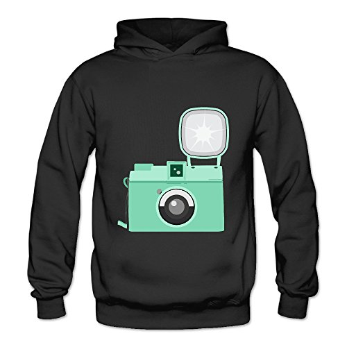 Lennakay Work Adult's Retro Mint Green Camera Hooded Sweatshirt With No Pocket Black For Woman SizeL (Mint Green Kitchenaid Mixer compare prices)