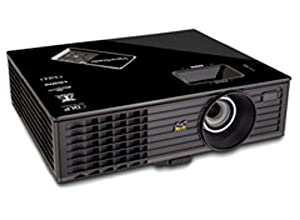 View Sonic PJD6553W 1080p Front Projector, 300 Inches - Black