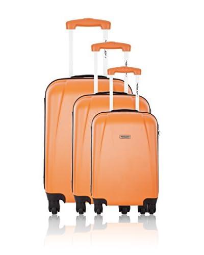 Travel ONE 3er Set Hartschalen Trolley Rainbow orange