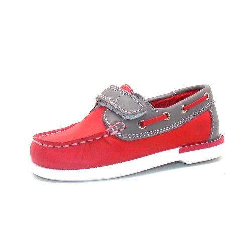 Seaside Mokassin Boat Shoe Children Shoe Spring shoes 7420511 Red Grey