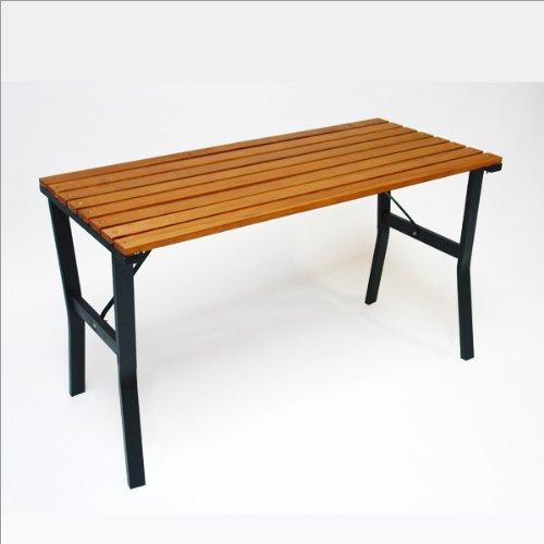 DEMA-Gartentisch-Modern-110-cm-HolzMetall