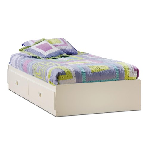 White Wooden Bedside Tables 7593 front