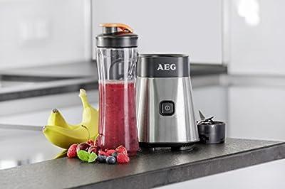 AEG ASBEB1 Sport Mini Mixer extra Flasche für AEG SB 2400 (bruchfeste 0,6 Liter skalierte Tritan-Trinkflasche)