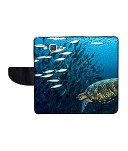 KolorEdge Printed Flip Cover For Samsung Galaxy A5 -Multicolor (50KeMLogo11422SamA5)