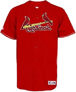 St. Louis Cardinals Red Embroidered Replica Baseball Jersey by Majestic by Majestic