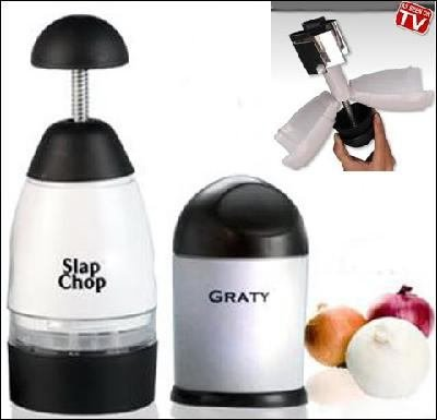 Kitchen Slap Chop & Grate Food Fruit Meat Chopper Machine