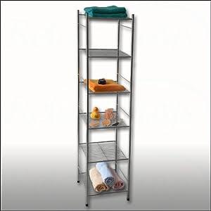 Scaffale scaffalatura etagere colonna in metallo cromato 6 - Scaffale per cucina ...