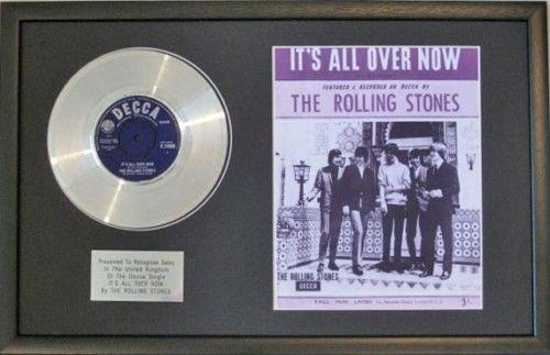 "The Rolling Stones-Platinum disco & lo spartito-It ""s All Over"