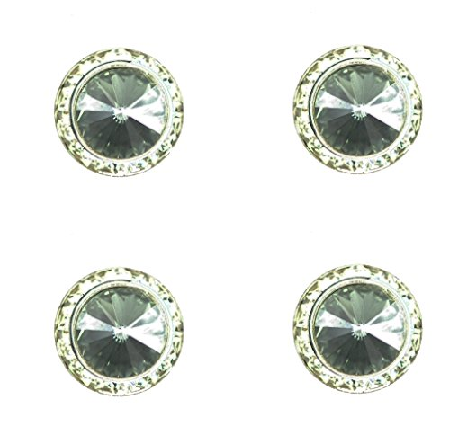 Horse jewelry magnetic contestant show number pins swarovski black diamond crystal set of 4 (Contestant Numbers compare prices)