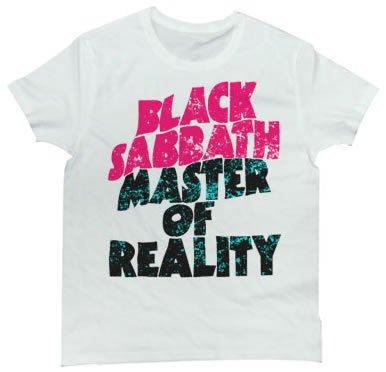 Rock Star Tシャツ ブラック・サバスのロゴはカッコイイ メタルの重鎮Black Sabbathの加工ロゴTシャツ LIVE TOGETHER (S, WHITE)