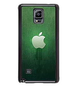 Fuson Premium 2D Back Case Cover Green apple With Multi Background Degined For Samsung Galaxy Note 4 N910::Samsung Galaxy Note 4 Duos N9100