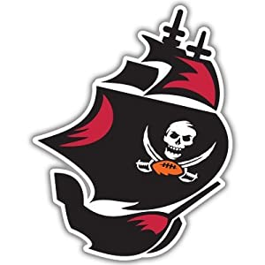 "Tampa Bay Buccaneers NFL Football bumper sticker 4""x 5"""