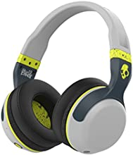Skullcandy Hesh 2.0 Bluetooth 4.0 Wireless Headphones with Mic (Light Grey and Hot Lime)