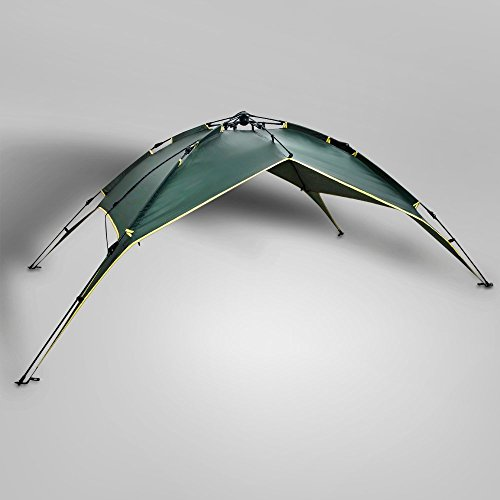 Instant Dome Tent - 2-3 Person Automatic Double Layer Waterproof for Outdoor Sports Family Camping Hiking Travel Beach with Zippered Door and Carrying Bag in Army Green