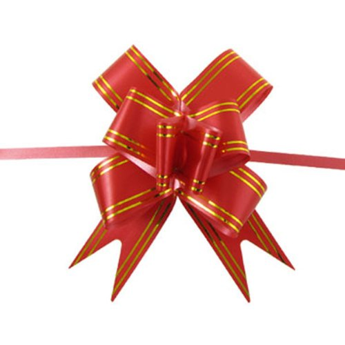 bestofferbuy-10pcs-large-10cm-4in-butterfly-style-golden-edge-ribbon-pull-bow-red