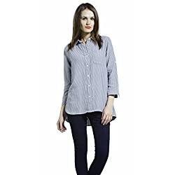 SbuyS Stunning Grey Shirt With 3/4th Sleeves