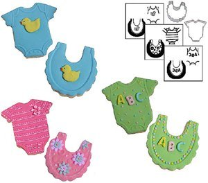 Country Kitchen Mini Baby Cookie Cutter Texture Set