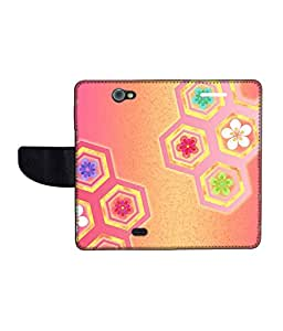 KolorEdge Printed Flip Cover For Gionee Pioneer P2 Multicolor -(43KeMLogo12411GioneeP2)