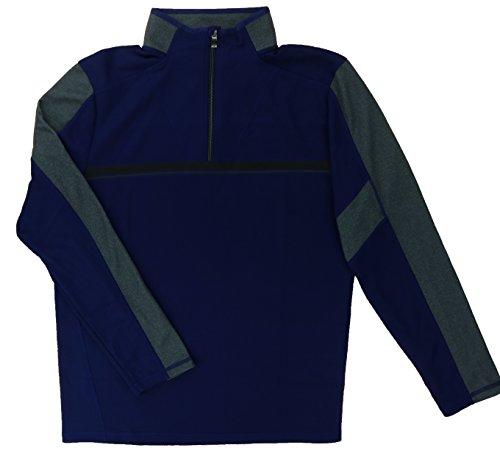 Calvin Klein Men's Performance Quarter Zip Active Pullover (X-Large, Blue Ribbon)