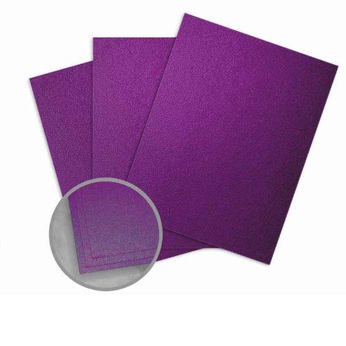 Elan Metallics Plum Card Stock - 8 1/2 x 11 in 111 lb Cover Metallic C/2S 25 per Package