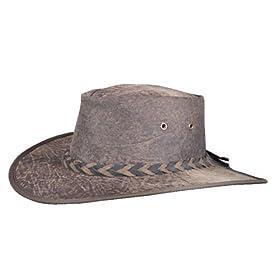 Barmah Hats 1018 Vintage Kangaroo Leather Brown