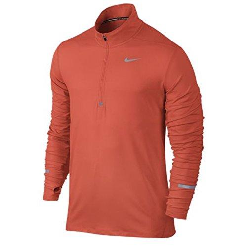 Nike Dri-Fit Element Hz - Top manica lunga da uomo, colore Arancione, taglia L