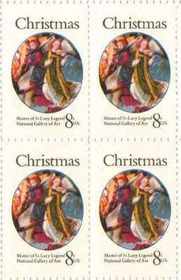 Christmas Master of St Lucy Set of 4 x 8 Cent US Postage Stamps NEW Scot 1471