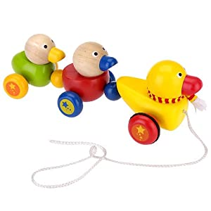 wooden ducky pull toys