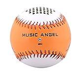 Quentacy(TM) Music Angel® Portable Baseball Wireless Bluetooth Speaker Orange