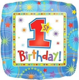 Anagram International Hx One-Derful Birthday Boy Foil Balloon, Multicolor