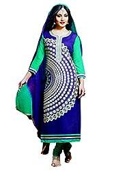Pehnawa Fashion Women Poly_Cotton Unstitched Dress Material (Purple)