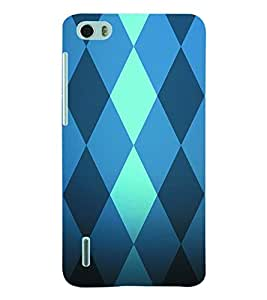 ColourCraft Diamond Pattern Back Case Cover for HUAWEI HONOR 6
