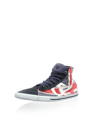 Gola Men's Quota High Union Jack Canvas Mid-Top Sneaker