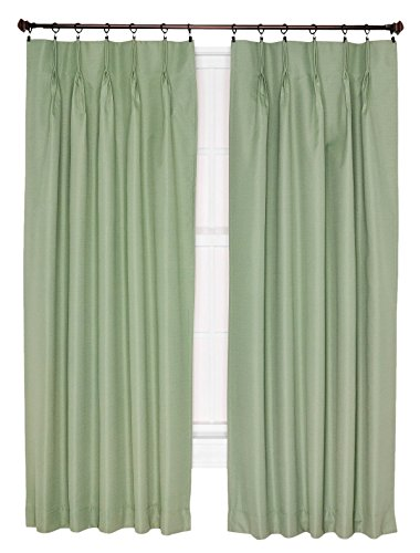 Ellis Curtain Crosby Thermal Insulated 96 By 84 Inch Pinch Pleated Foamback Curtains Sage