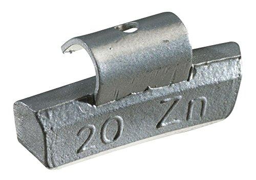 KS Tools 100.2025 - Pesi di equilibratura a gancio in alluminio per cerchioni, confezione da 100 pezzi, 25 gr