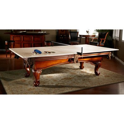 Drop Shot Ping Pong Conversion Top Table Tennis Color: Tan, With Accessories: Yes