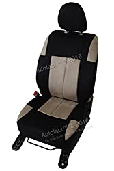 Autofact Brand Suede / Buff Velvet Car Seat Covers for Maruti Car 800 Old Model in Black and Beige Combination