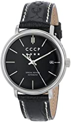 CCCP Men's CP-7019-01 Heritage Analog Display Automatic Self Wind Black Watch