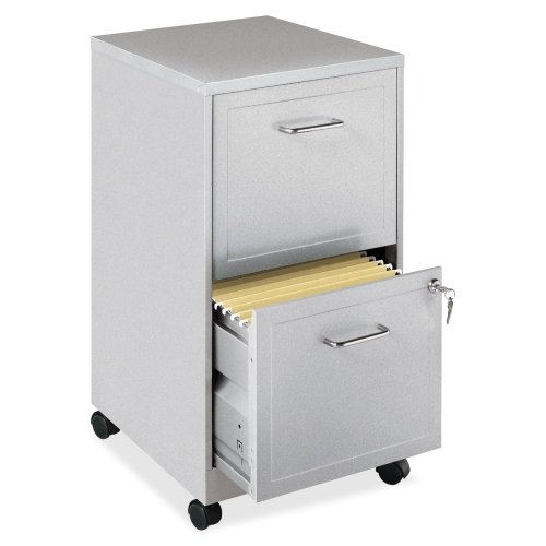Lorell 16873 2-Drawer Mobile File Cabinet, 18-Inch