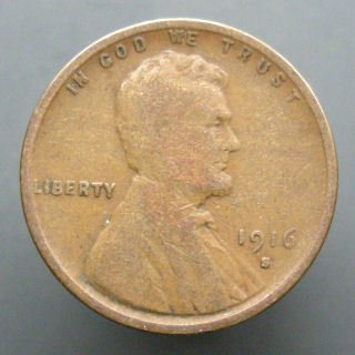 1916-S U.S. Lincoln Head Cent