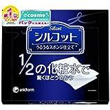 Unicharm Silcot Uruuru Sponge Facial Cotton, 1.8 Ounce (Pack of 6)