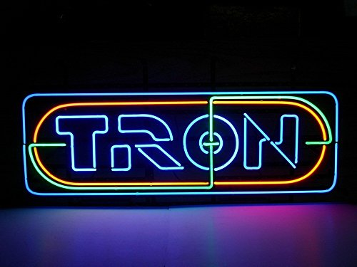 "New Tron Neon Light Sign Home Beer Bar Pub Recreation Room Game Room Windows Garage Wall Sign 17w""x 14""h"