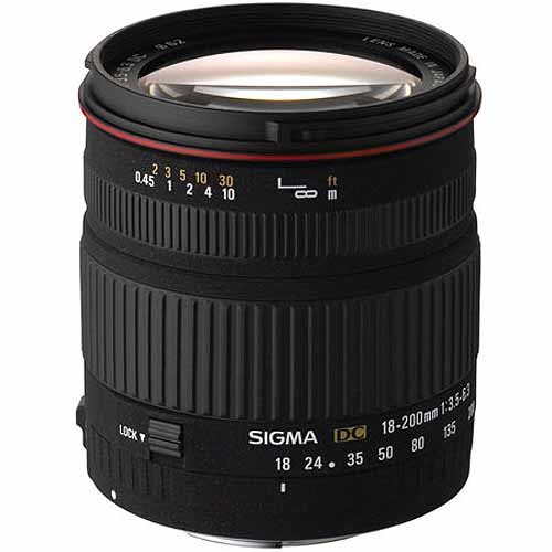 Sigma 18-200mm f/3.5-6.3 DC Lens for Canon Digital SLR Cameras