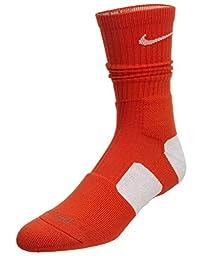 Men\'s Nike Dri Fit Elite Socks Large Team Orange/White Size Large