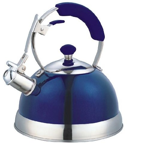 Blue Heavy Duty Stainless Steel 2.5 LT Whistling Kettle