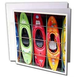 Water Sport - Kayak - Greeting Cards-6 Greeting Cards with envelopes