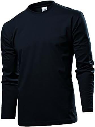 Stedman ST2130 Mens Long Sleeve Comfort T-Shirt Black Opal S